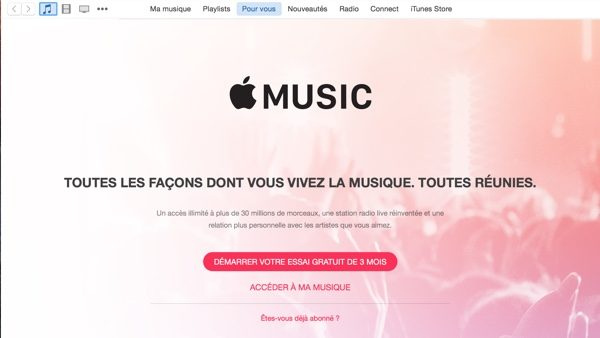 demarrer apple music-infoidevice