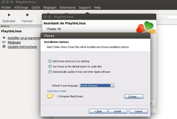assistant itunes sous linux-infoidevice