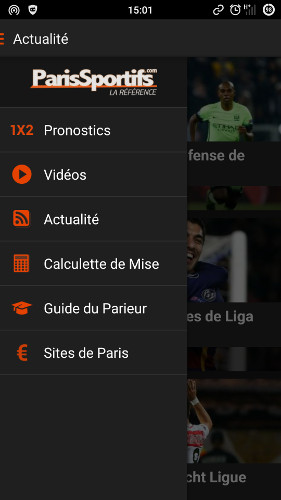 application paris sportifs android