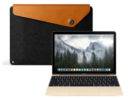 Housse MacBook 12 Pouces Mujjo Cuir-infoidevice