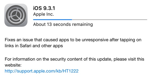 ios 9.3.1 apple-infoidevice
