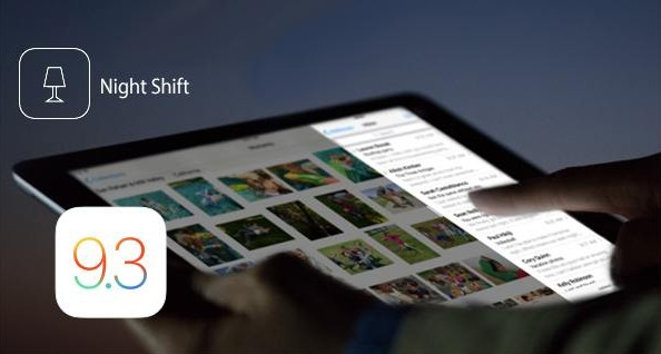 mode nuit night shift ios 9.3-infoidevice