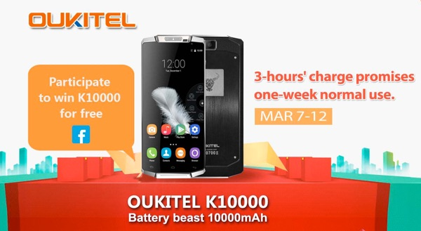 promotion exceptionnelle pour le smartphone oukitel k10000 info idevice. Black Bedroom Furniture Sets. Home Design Ideas