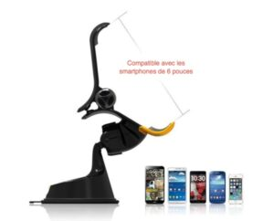 support dash crab fx compatible smartphone 6 pouces-infoidevice