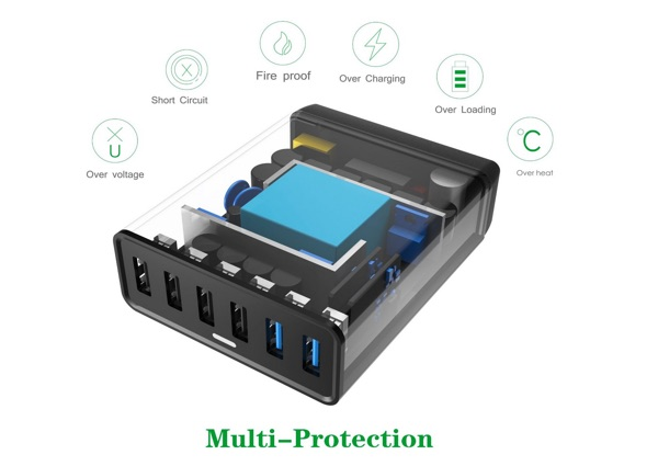 chargeur multi protection choetech-infoidevice