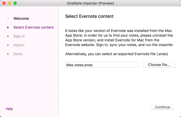 importer note evernote vers onenote-infoidevice