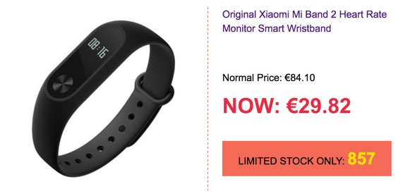 promotion xiaomi miband 2-infoidevice