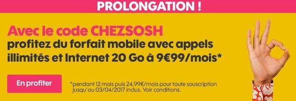 sosh prolonge son offre infoidevice