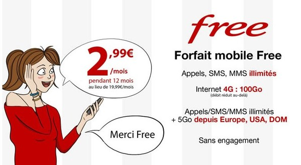 vente privee free mobile 100go infoidevice