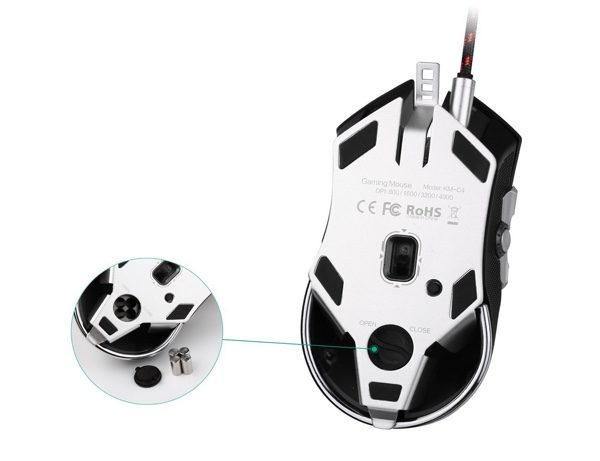 modification poids souris gamer aukey infoidevice
