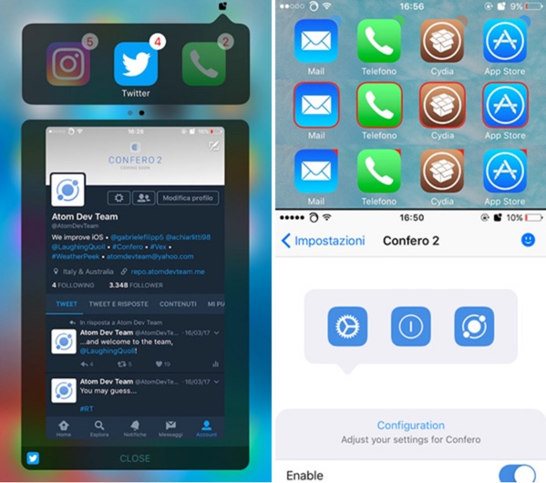 tweak confero 2 infoidevice