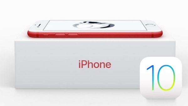iphone red ios 10