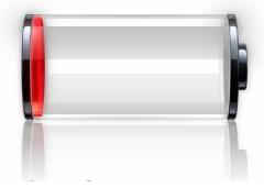 indicateur batterie iPhone vide