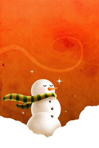 iPhone-Christmas-Snowman-background-iPhone-wallpaper
