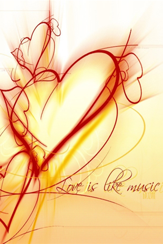 iPhone-Love-is-like-Music-background-iPhone-wallpaper
