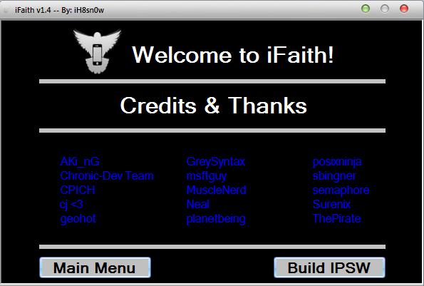 iFaith 1.4 7 sauvegarder vos shsh