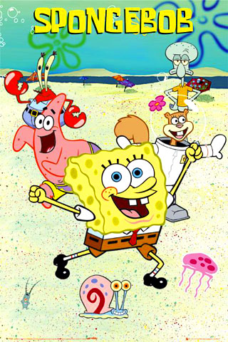iPhone-SpongeBob-SquarePants-background-iPhone-wallpaper