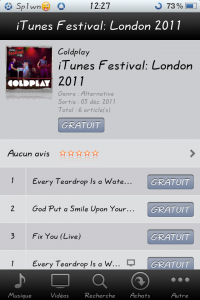 iTunes ColdPlay 1