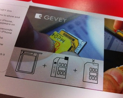 Gevey SIM desimlock iphone 4 04.11.08 et iPhone 4S