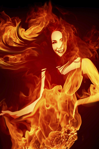 Fiery-Dance-HD-iPhone-Wallpaper