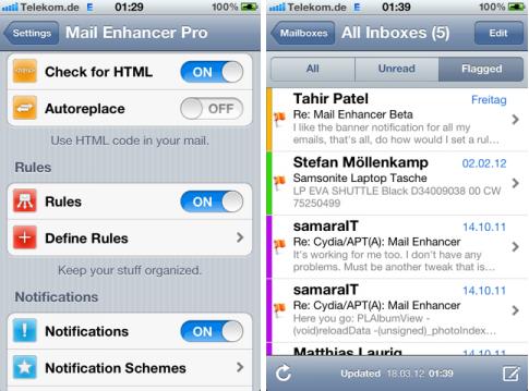 Mail Enhancer Pro-pour iPhone