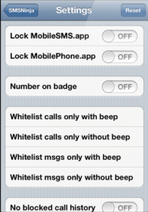 SMSNinja bloque les SMS et MMS sur iPhone tweak Cydia 1