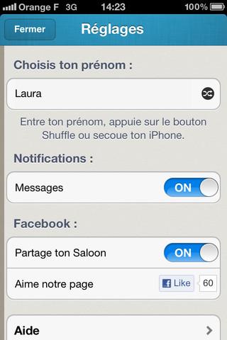 Saloon - iPhone App 2