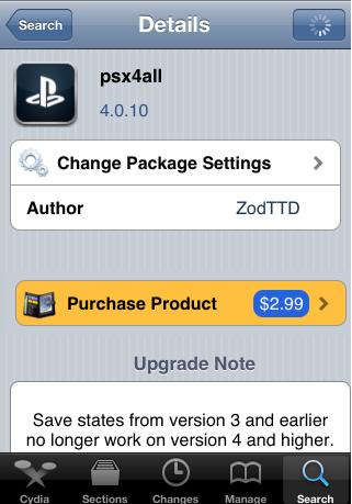 Installer - Jouez à des jeux PlayStation sur iPhone et iPod Touch