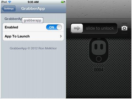GrabberApp pour iphone