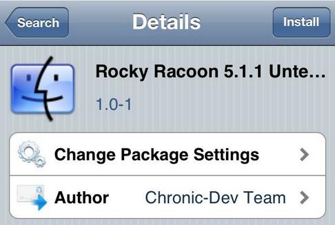 Racoon Rocky Convertir Jailbreak Tethered 5.1.1 à Untethered