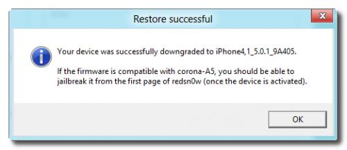 downgrade iPad 2 , iPAd 3 , iPhone 4S avec Redsn0w 0.9.11b1 -3