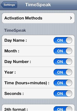 TimeSpeak : votre iPhone annonce la date et l'heure