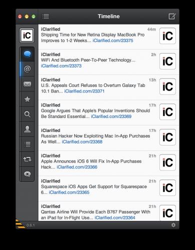 Tweetbot alpha 2 pour Mac
