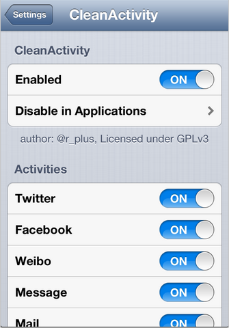CleanActivity cydia iphone