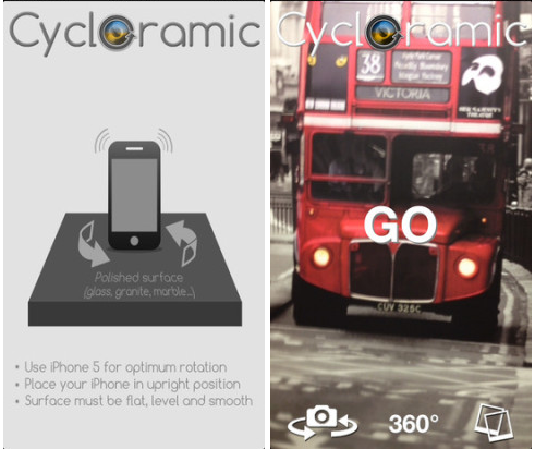 Cycloramic iphone