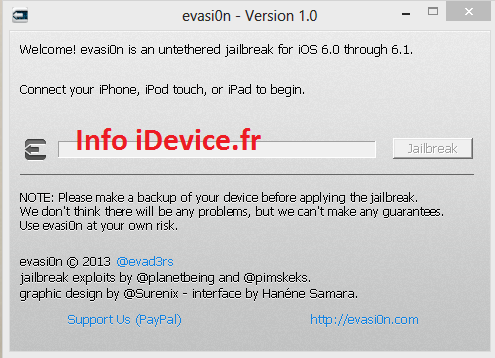 Evasi0n jailbreak iOS 6 iPhone 5 - iPad 4 - iPhone 4-4s - iPad mini