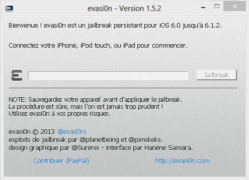Evasi0n 1.5.2 en français