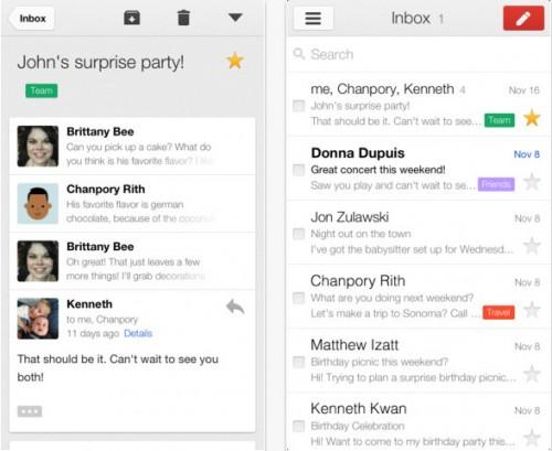 Gmail 2.1 pour iOS