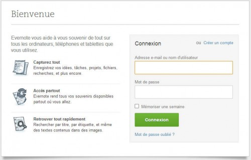login evernote