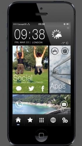 Conceptos thème winterboard HTC-1