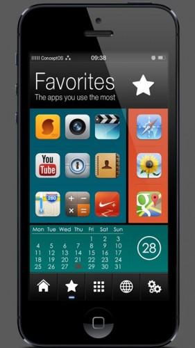 Conceptos thème winterboard HTC-2
