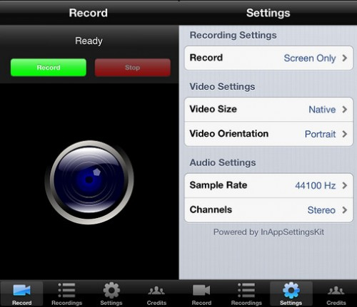 RecordMyScreen iphone ipad