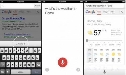 Google Voice Search iPhone
