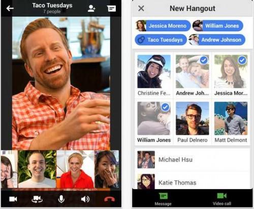Hangouts pour iOS , Android , Mac et PC jpeg