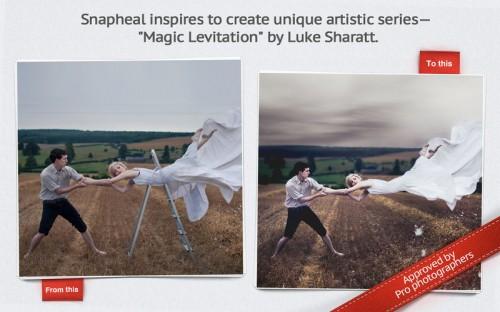 Snapheal retouche photo et supprime les objets