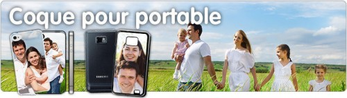 coque personnalisable pour portable