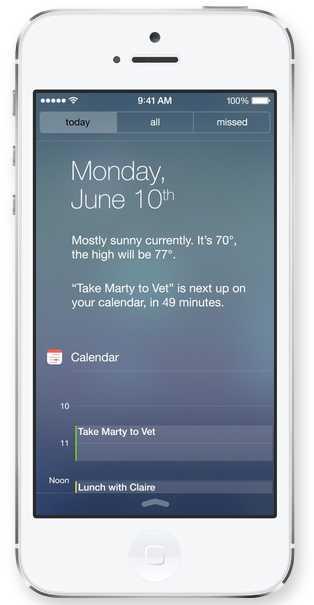 Centre de notifications Apple - iOS 7