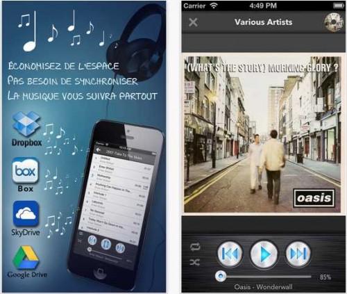 CloudBeats - Lecteur de Musique depuis le Dropbox, Box, SkyDrive, Google Drive pour iPhone, ipod et iPad
