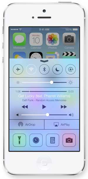 Control Center Apple - iOS 7
