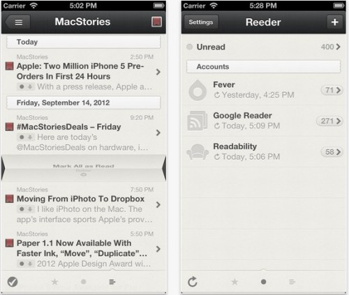 Reeder 3.1 gratuit sur iPhone - Info iDevice